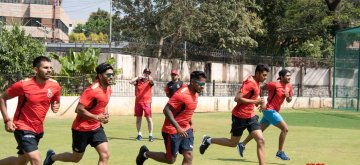 Bengaluru: Royal Challengers Bangalore players at a five-day conditioning camp under the guidance of coaches Gary Kirsten and Ashish Nehra at M. Chinnaswamy Stadium in Bengaluru on Feb 4, 2019. (Photo: IANS)