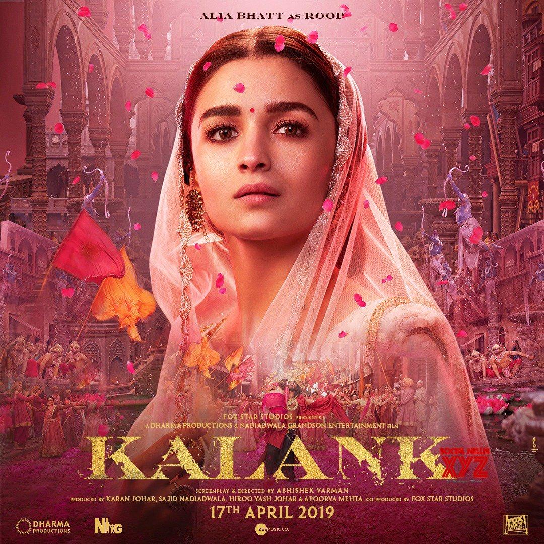 Alia Bhatt New Poster From Kalank