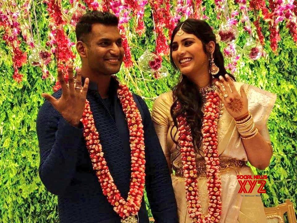 Vishal And Anisha Engagement Stills