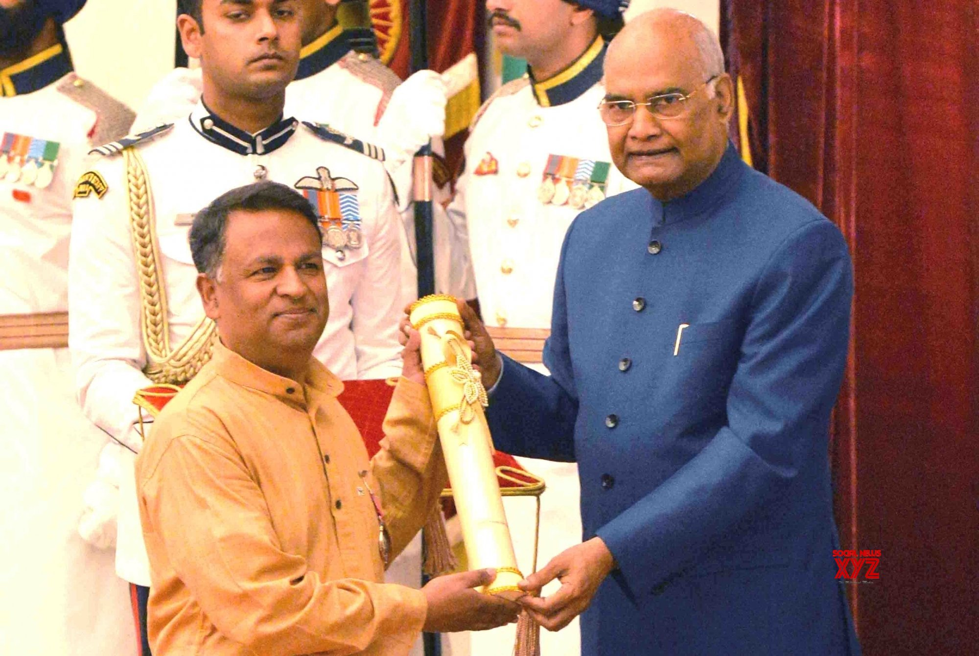 New Delhi: President Kovind presents Padma Awards - Fayaz Ahmad Jan (Batch 2) #Gallery