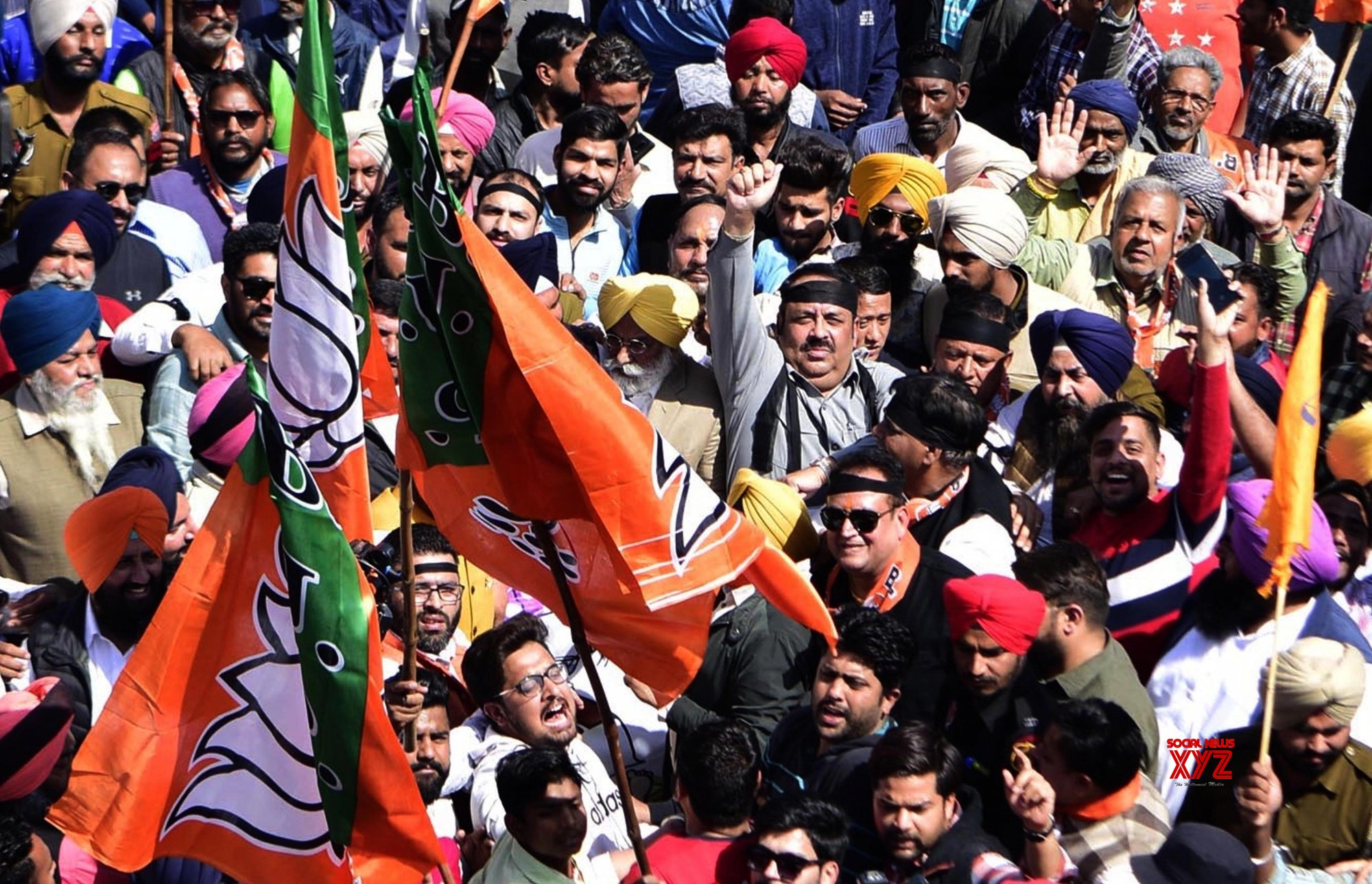 Amritsar: BJP's protest march #Gallery