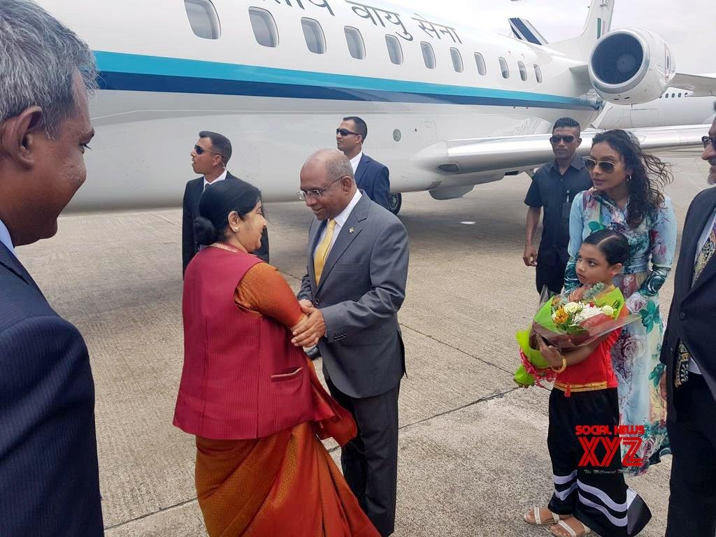Maldives: Sushma Swaraj arrives in Maldives #Gallery