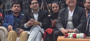 Srinagar: Former IAS officer Shah Faesal at the launch of Jammu and Kashmir People's Movement (JKPM), his new political party in Srinagar on March 17, 2019. Also seen student activist Shehla Rashid. (Photo: IANS)