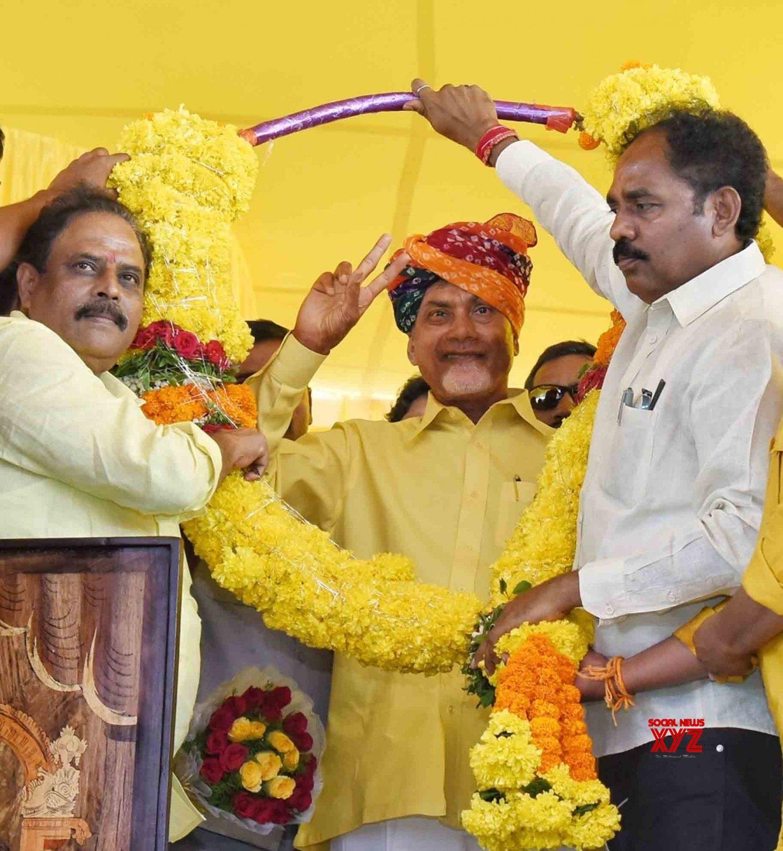 Kakinada: Chandrababu Naidu during a TDP programme #Gallery