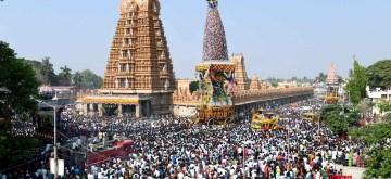 Nanjangud: Devotees participate in Nanjangud Car Festival in Karnataka's Nanjangud on March 19, 2019. (Photo: IANS)