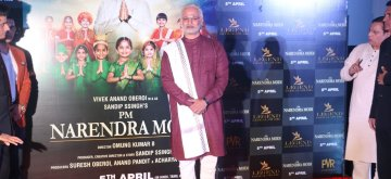 "Mumbai: Actor Vivek Oberoi dressed up as Prime Minister Narendra Modi at the trailer launch of his upcoming film ""PM Narendra Modi"" in Mumbai, on March 20, 2019. (Photo: IANS)"