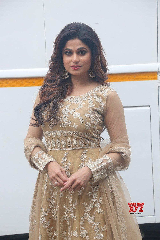 Mumbai: Shamita Shetty seen at a studio in Goregaon #Gallery