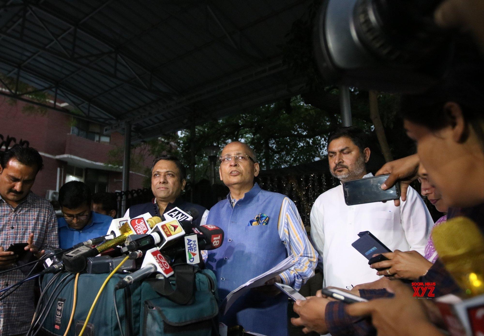 New Delhi: Abhishek Manu Singhvi meets CEC #Gallery