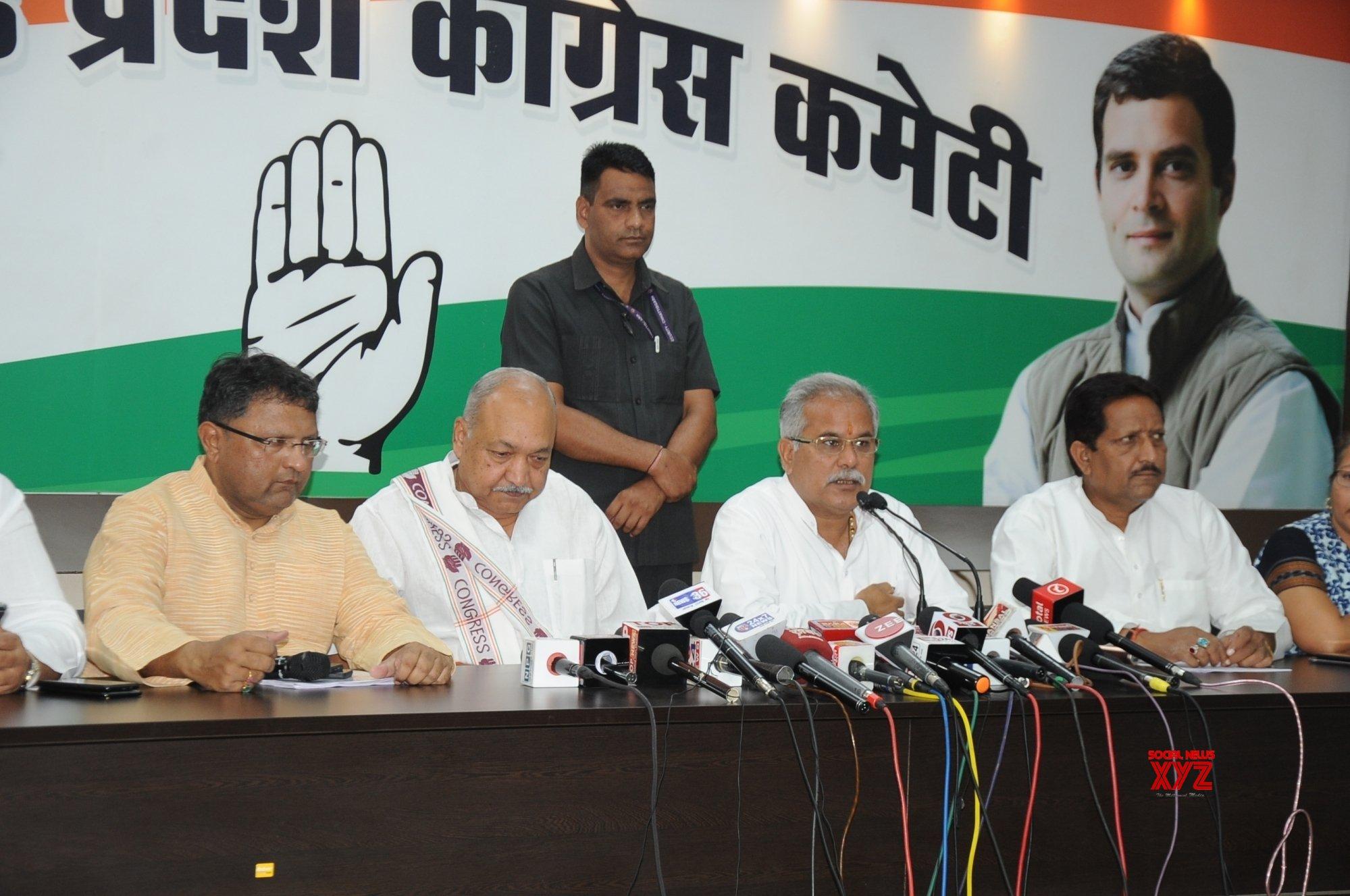 Raipur: Bhupesh Baghel's press conference #Gallery