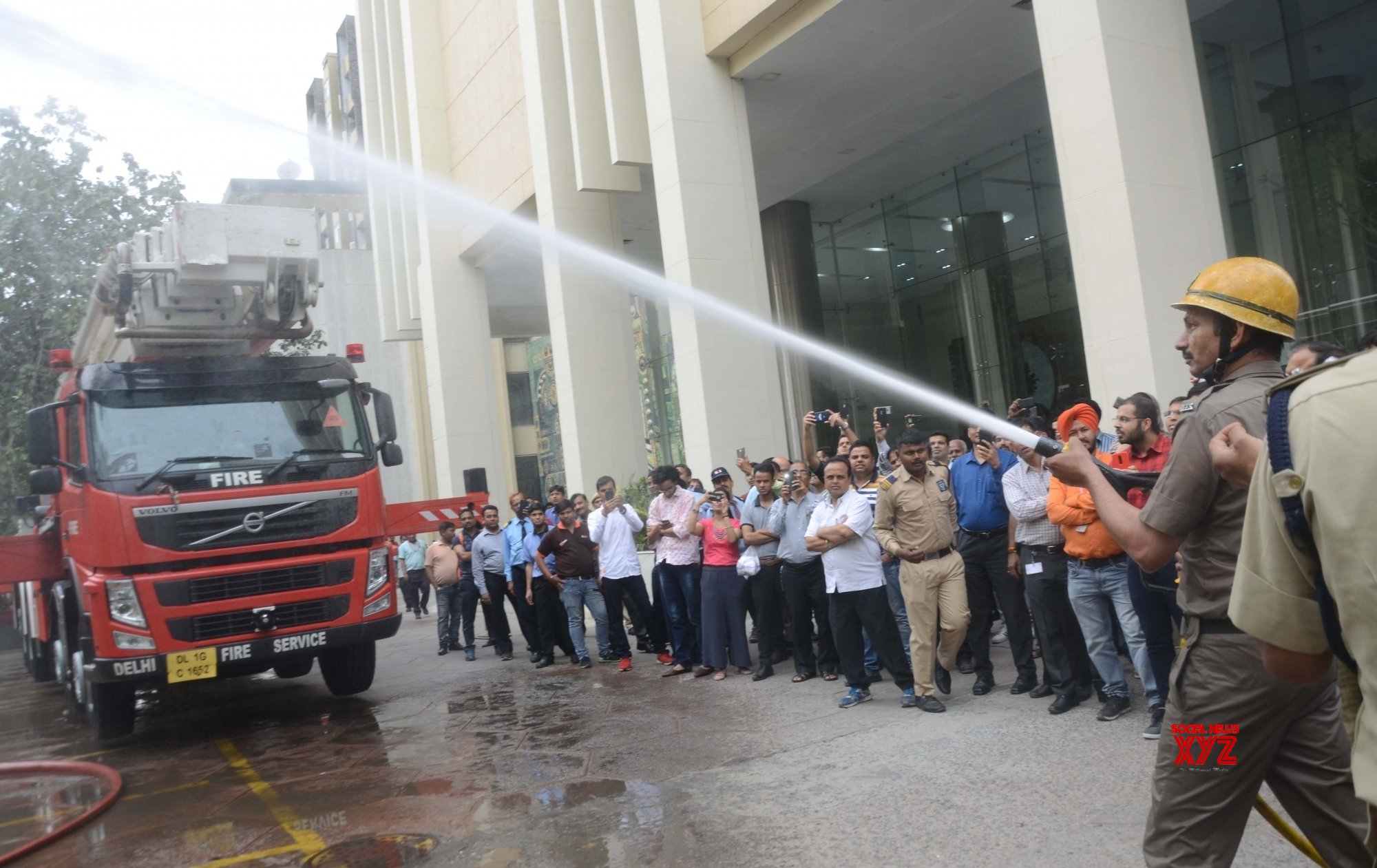 New Delhi: Fire Fighters during mock drill #Gallery