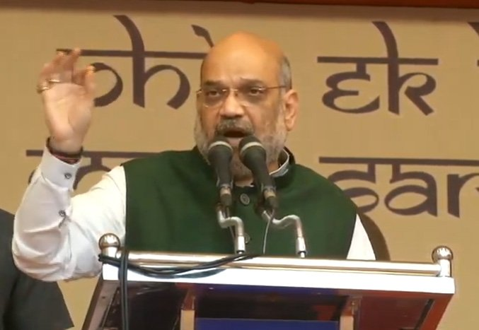 Thrissur: Amit Shah during a public rally in Kerala #Gallery