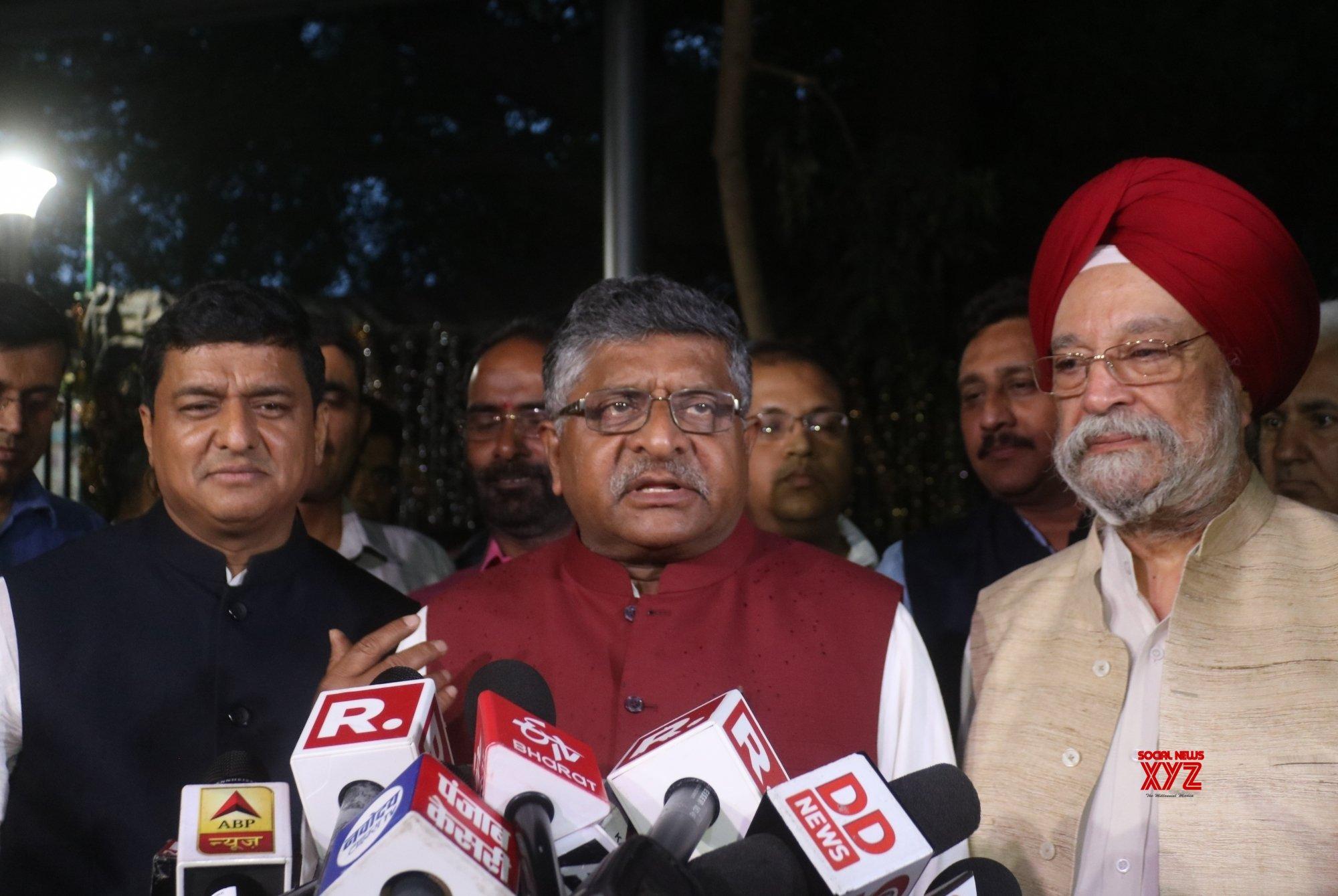 New Delhi: - Ravi Shankar Prasad meets CEC, talks to media #Gallery