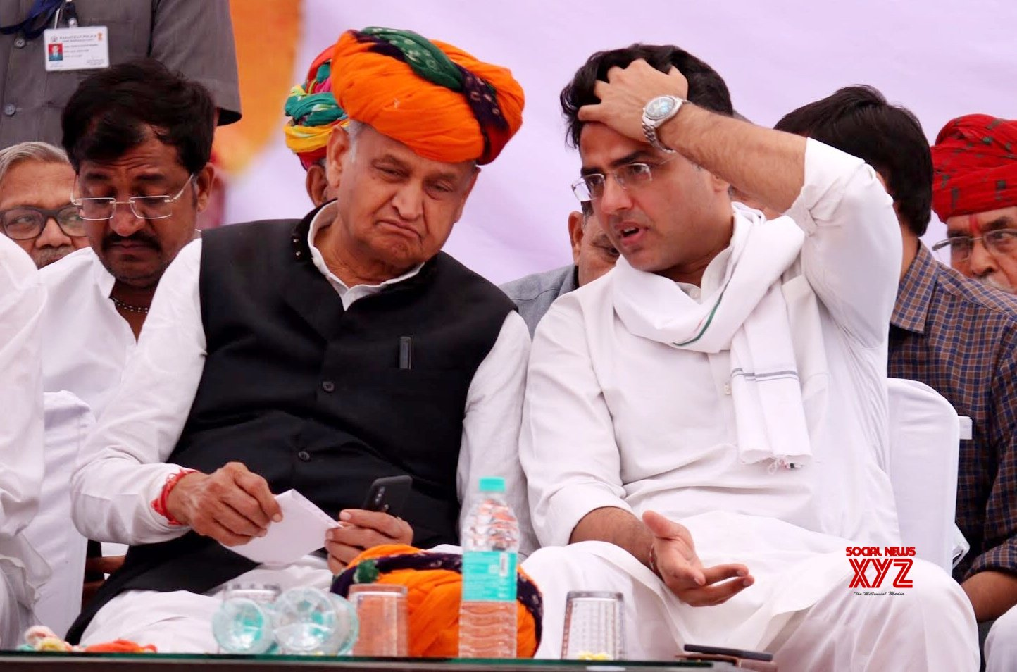 Ajmer: 2019 Lok Sabha polls - Ashok Gehlot, Sachin Pilot at a public rally #Gallery
