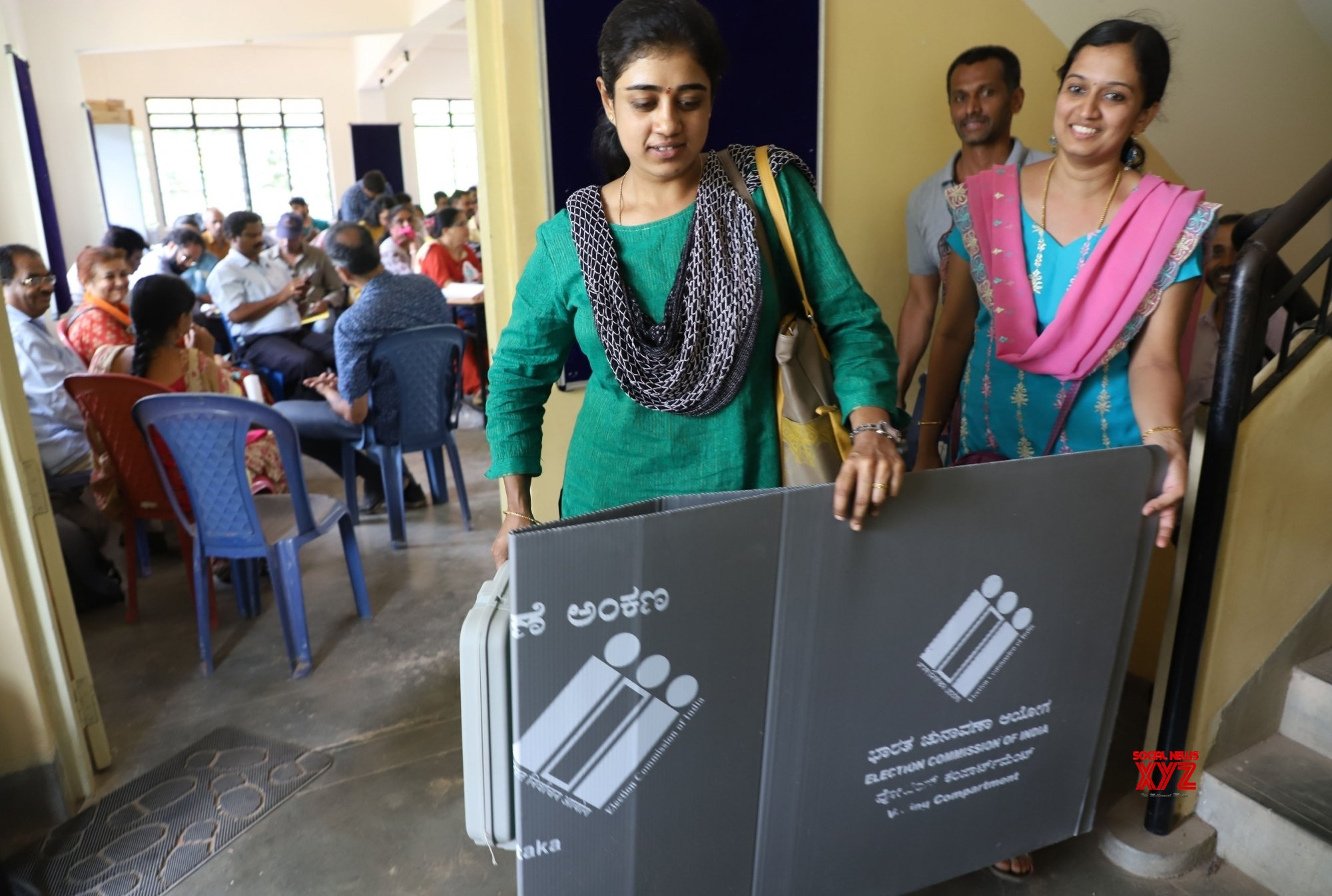 Bengaluru: 2019 Lok Sabha elections - Polling officials collect EVMs and other necessary inputs (Batch - 2) #Gallery