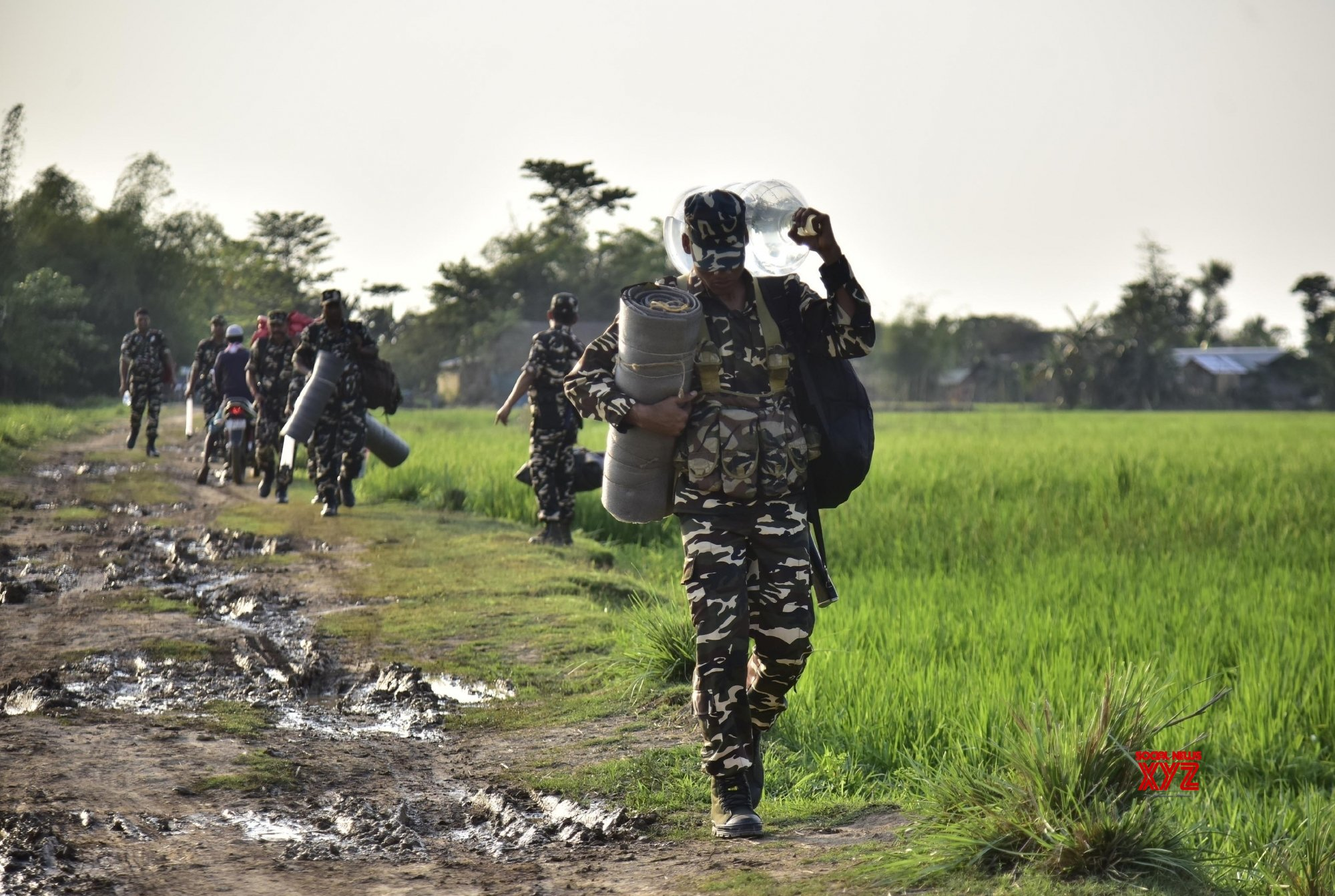 Nagaon: Paramilitary personnel deployed in poll duty #Gallery