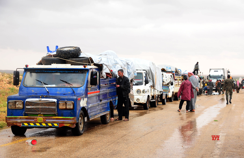 SYRIA - HOMS - RUKBAN CAMP - CIVILIANS - ARRIVAL #Gallery