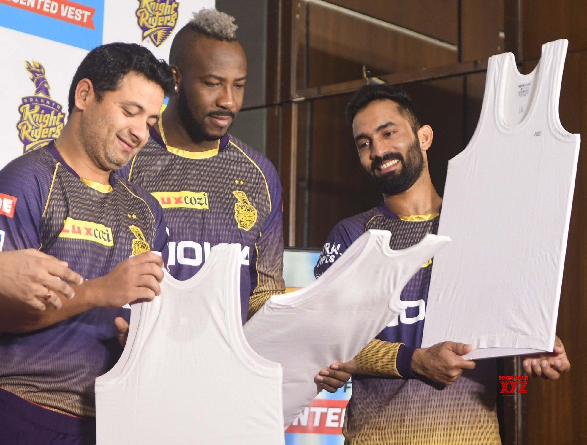 Kolkata: KKR players at a promotional programme #Gallery