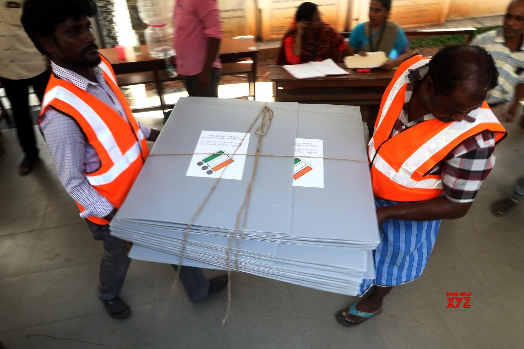 Chennai: 2019 Lok Sabha elections - Poll material being dispatched #Gallery