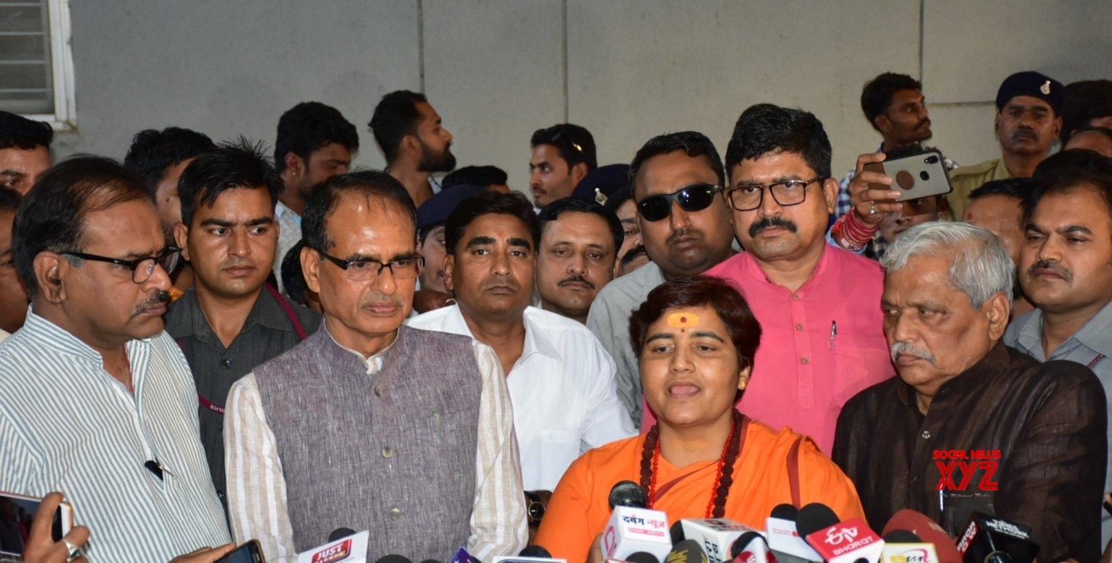 Bhopal: Shivraj Singh Chouhan, Sadhvi Pragya Singh Thakur press conference #Gallery