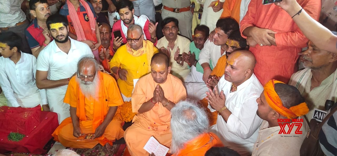 Ayodhya (UP): Yogi Adityanath visits Hanuman Setu temple #Gallery