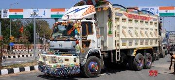 Trucks at Attari-Wagah Road Integrated Check Post. (File Photo: IANS)