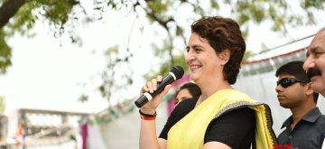 Raebareli: Congress leader Priyanka Gandhi Vadra interacts with people during election campaign in Raebareli, Uttar Pradesh on May 2, 2019. (Photo: IANS)