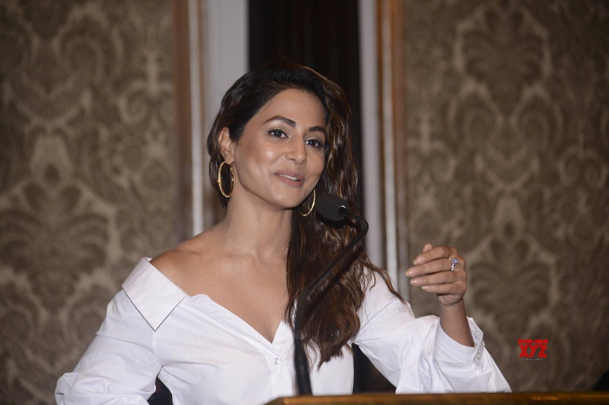 Hina Khan launches her film's poster at Cannes