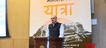 New Delhi: Foreign Secretary Vijay Gokhale conducts computerised draw of lots to select pilgrims for the 'Kailash Mansarovar Yatra' 2019, in New Delhi on May 15, 2019. (Photo: IANS/MEA)