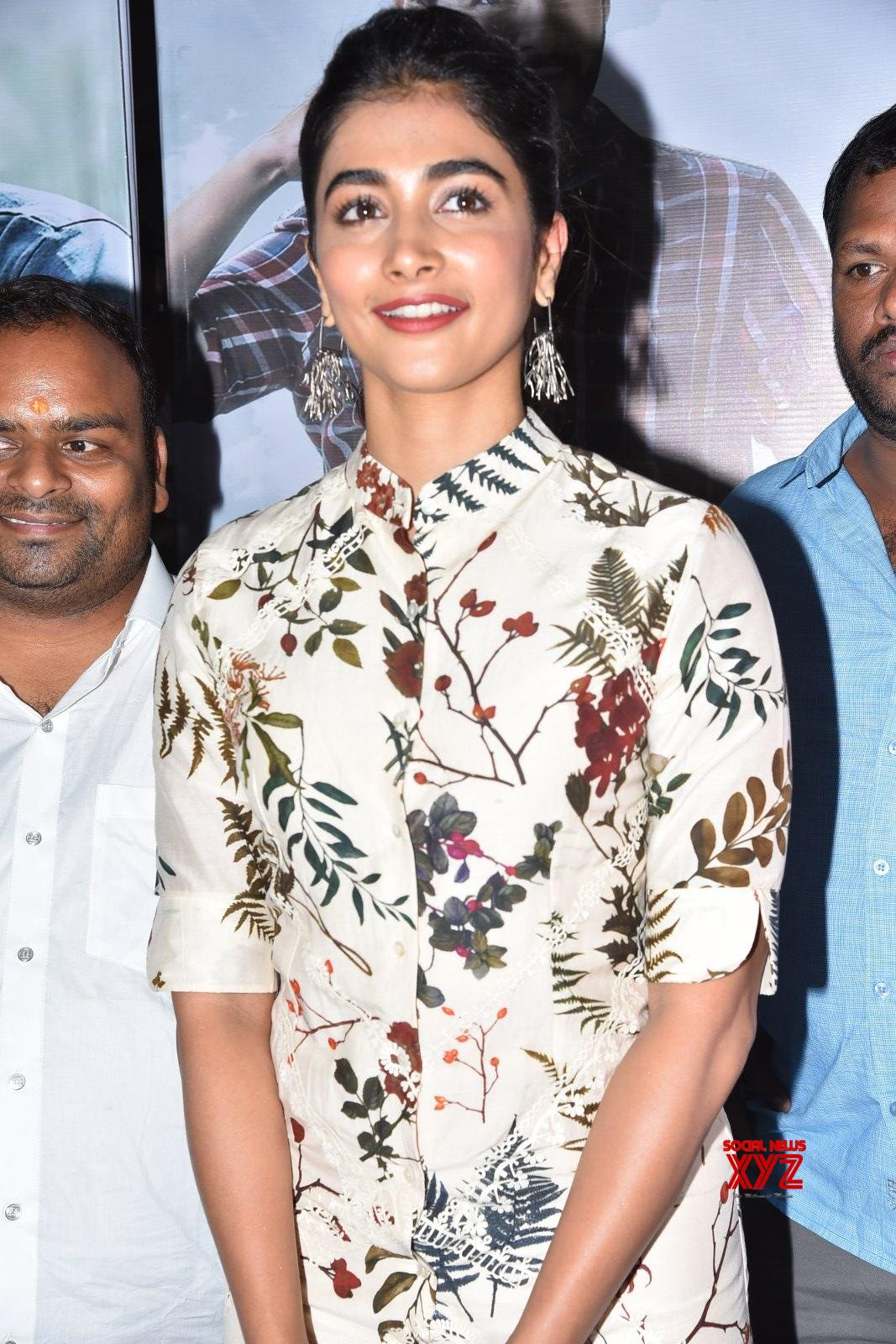 Actress Pooja Hegde Stills from Maharshi Team Sudarshan 35MM Theater Visit