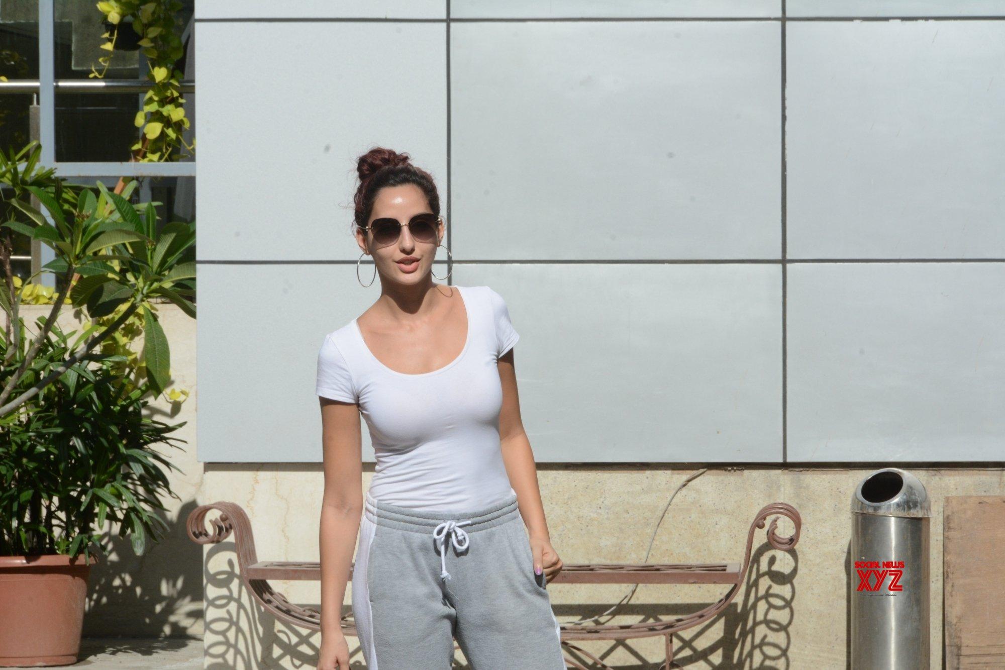 Mumbai: Nora Fatehi seen at Andheri #Gallery