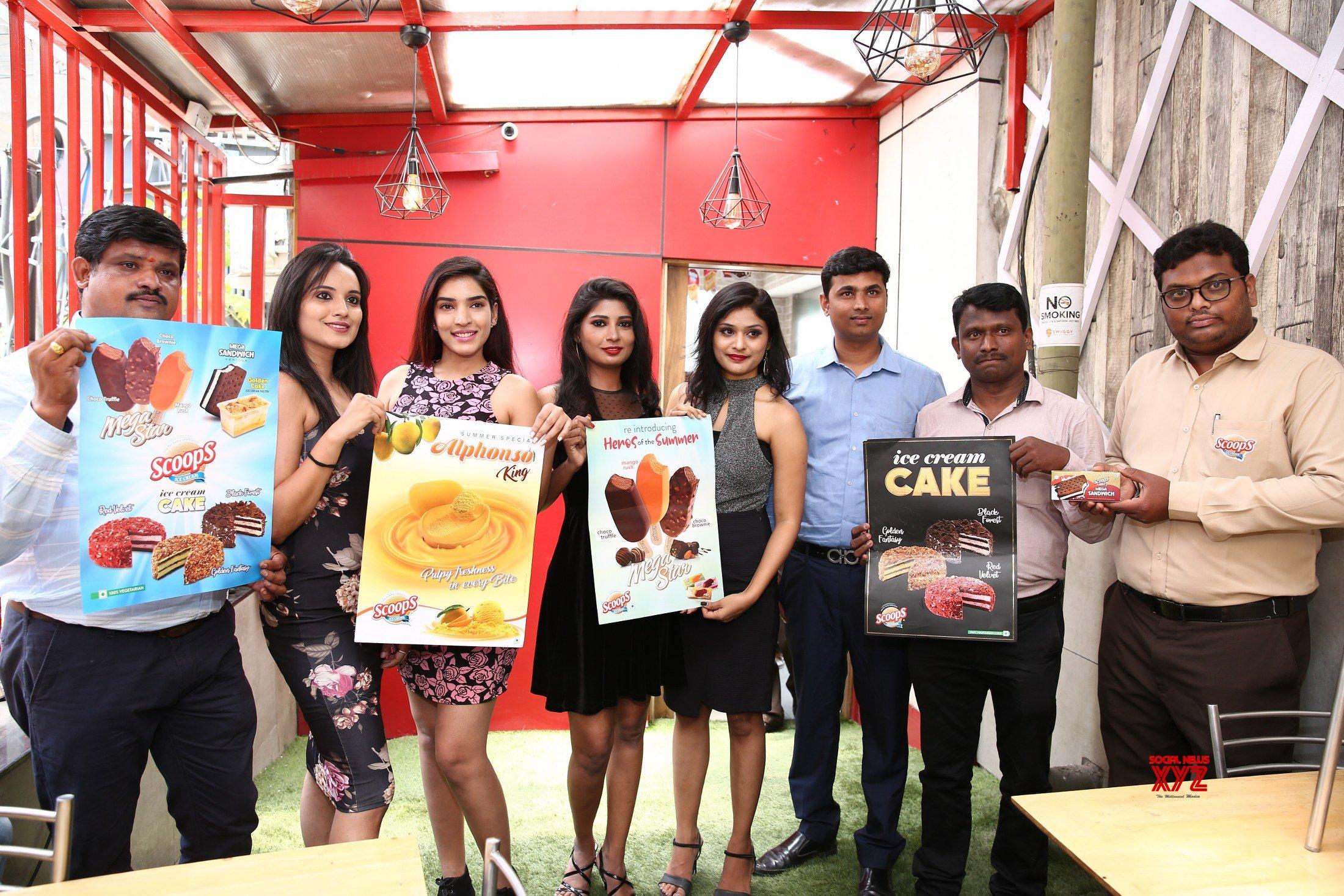 Actress Sanjana Introduced Scoops Summer Flavors
