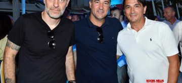 New Delhi: Former footballer Igor Stimac (C) with Croatian football managers Slaven Bilic (L) and Zlatko Dalic (R). The Executive Committee of the All India Football Federation (AIFF) has appointed Igor Stimac as the Head Coach of the Men's Senior National Team on a two-year contract, on May 15, 2019. (Photo: IANS)