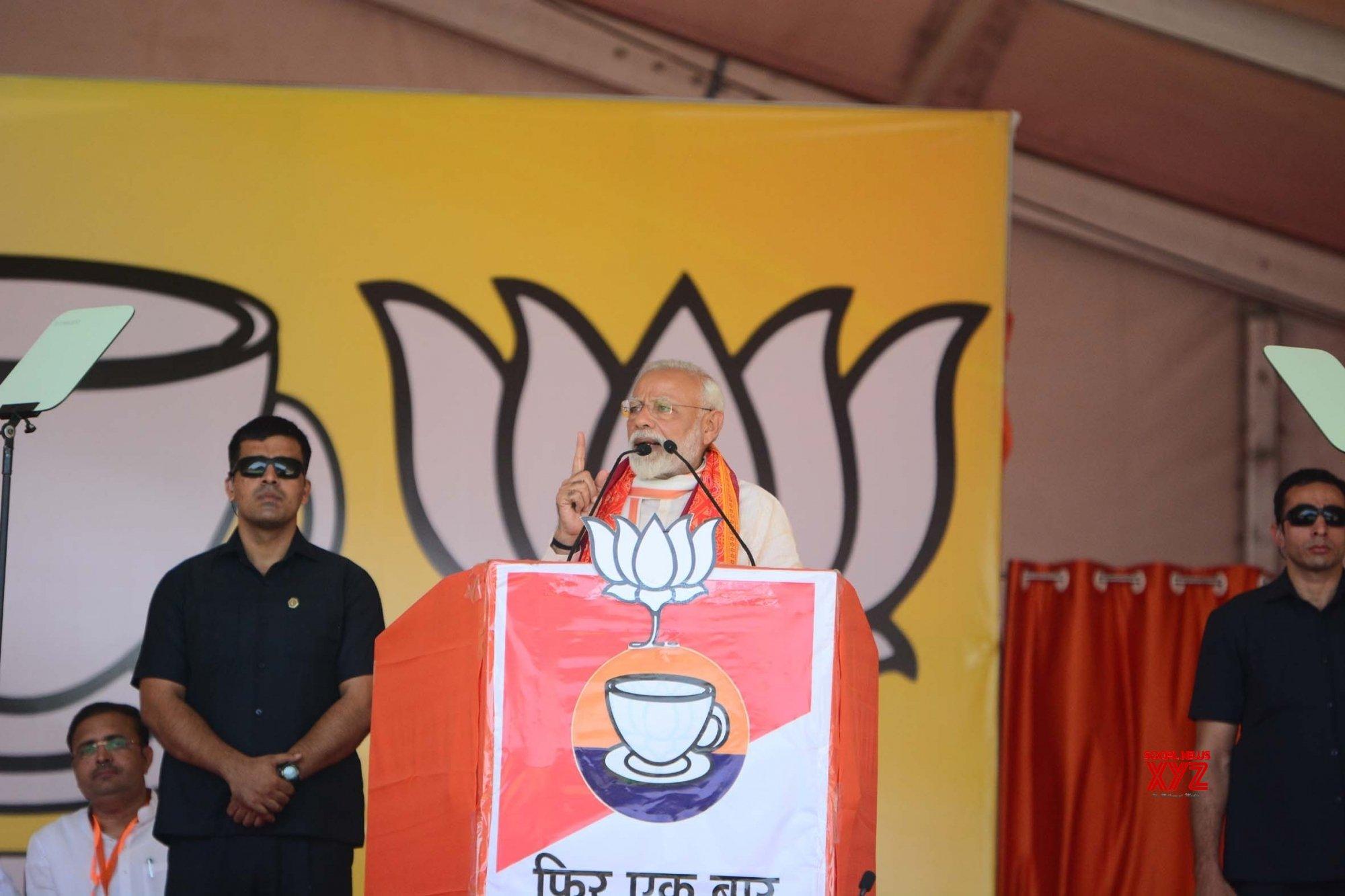 Mirzapur: Modi at BJP rally #Gallery