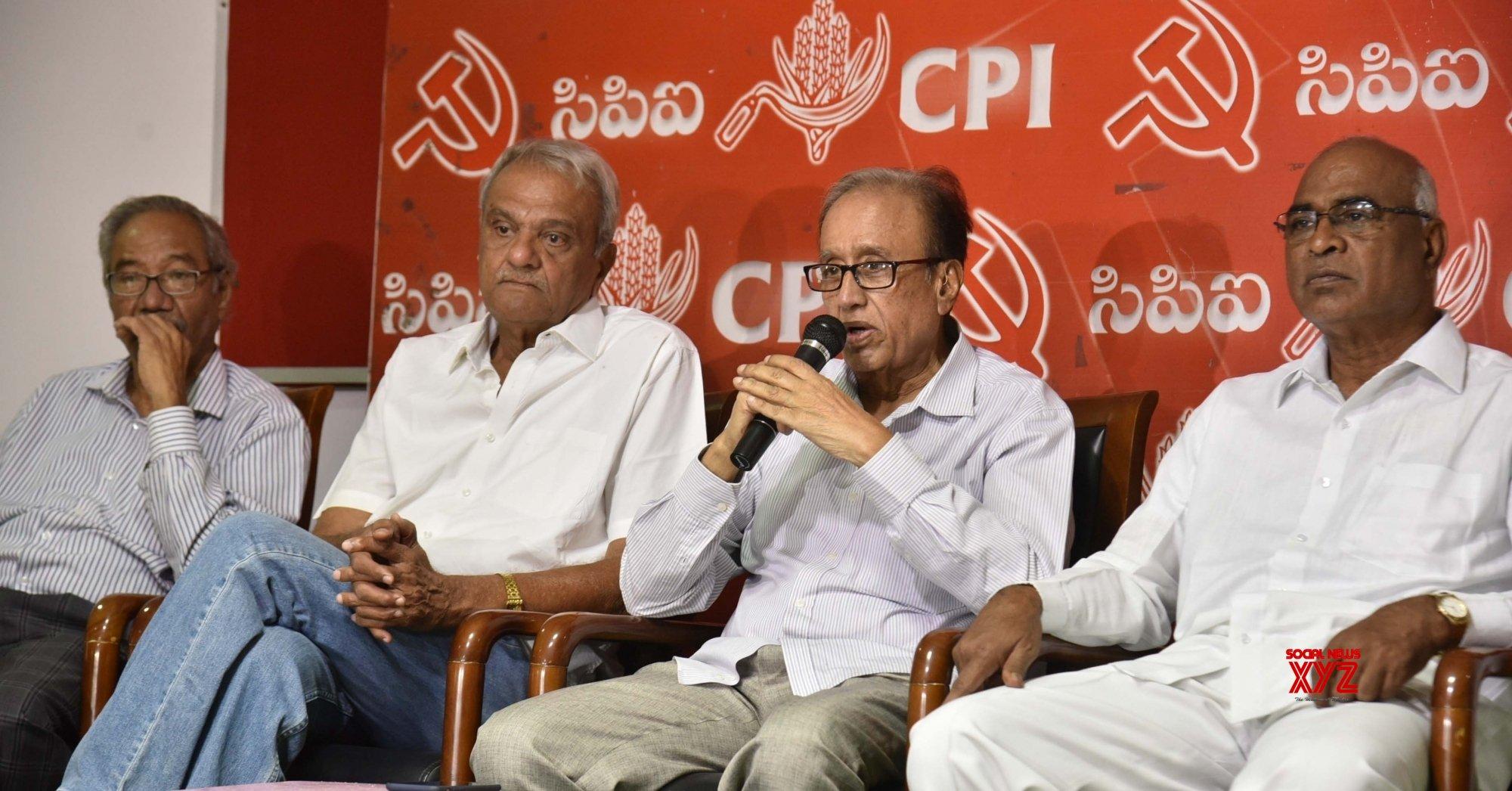 Hyderabad: CPI - M press conference #Gallery