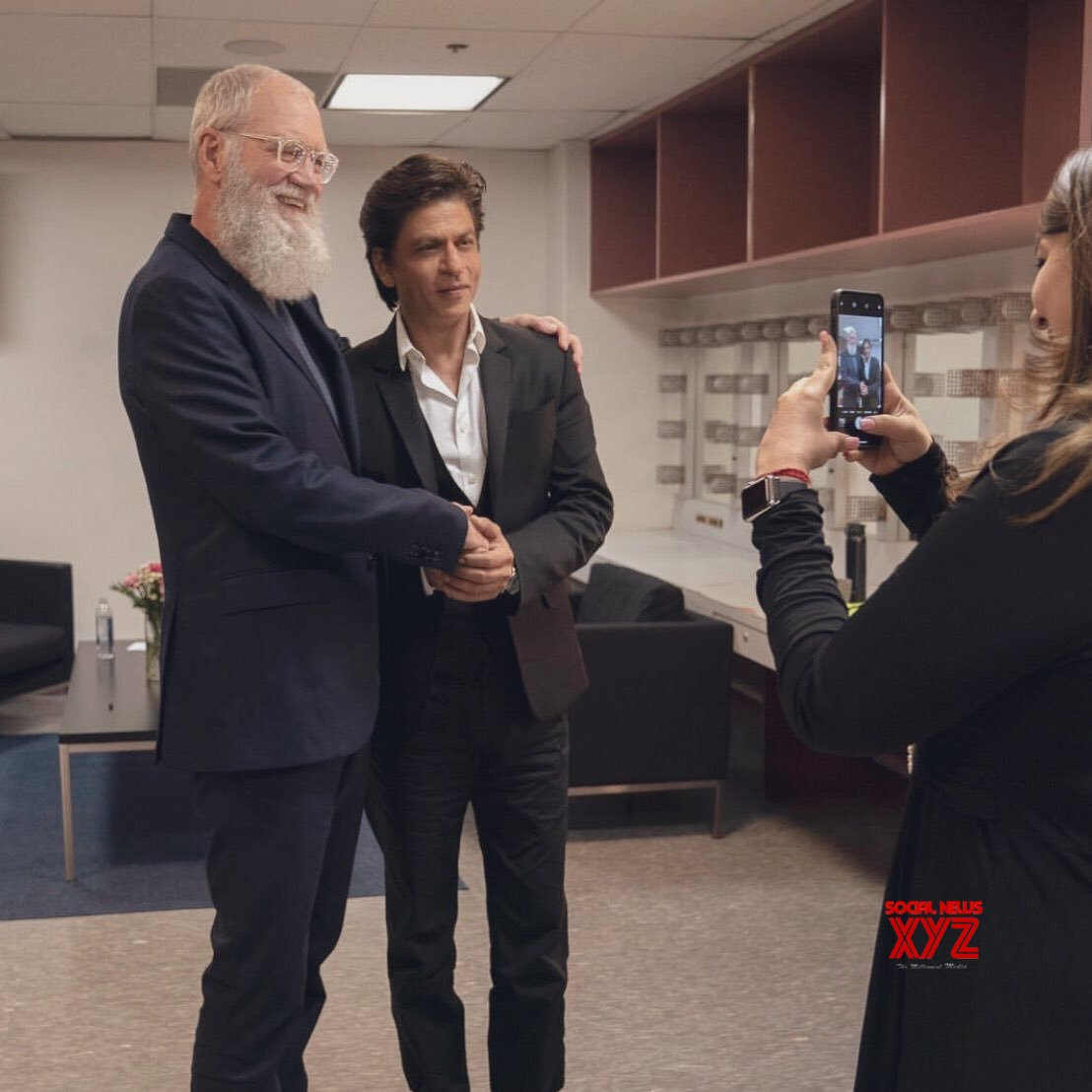 David Letterman And Shah Rukh Khan Stills From Their Interview