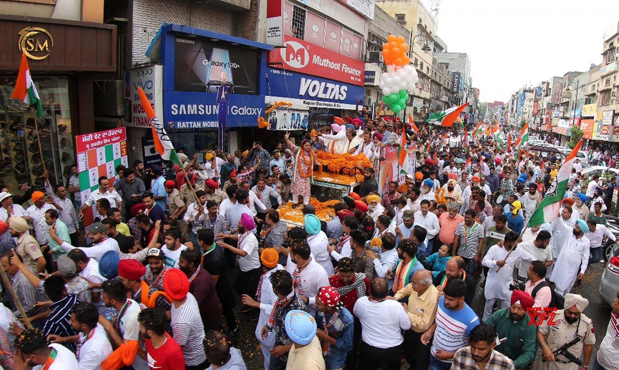 Amritsar: 2019 Lok Sabha elections - Gurjeet Singh Aujla, Raj Kumar Verka during a roadshow #Gallery