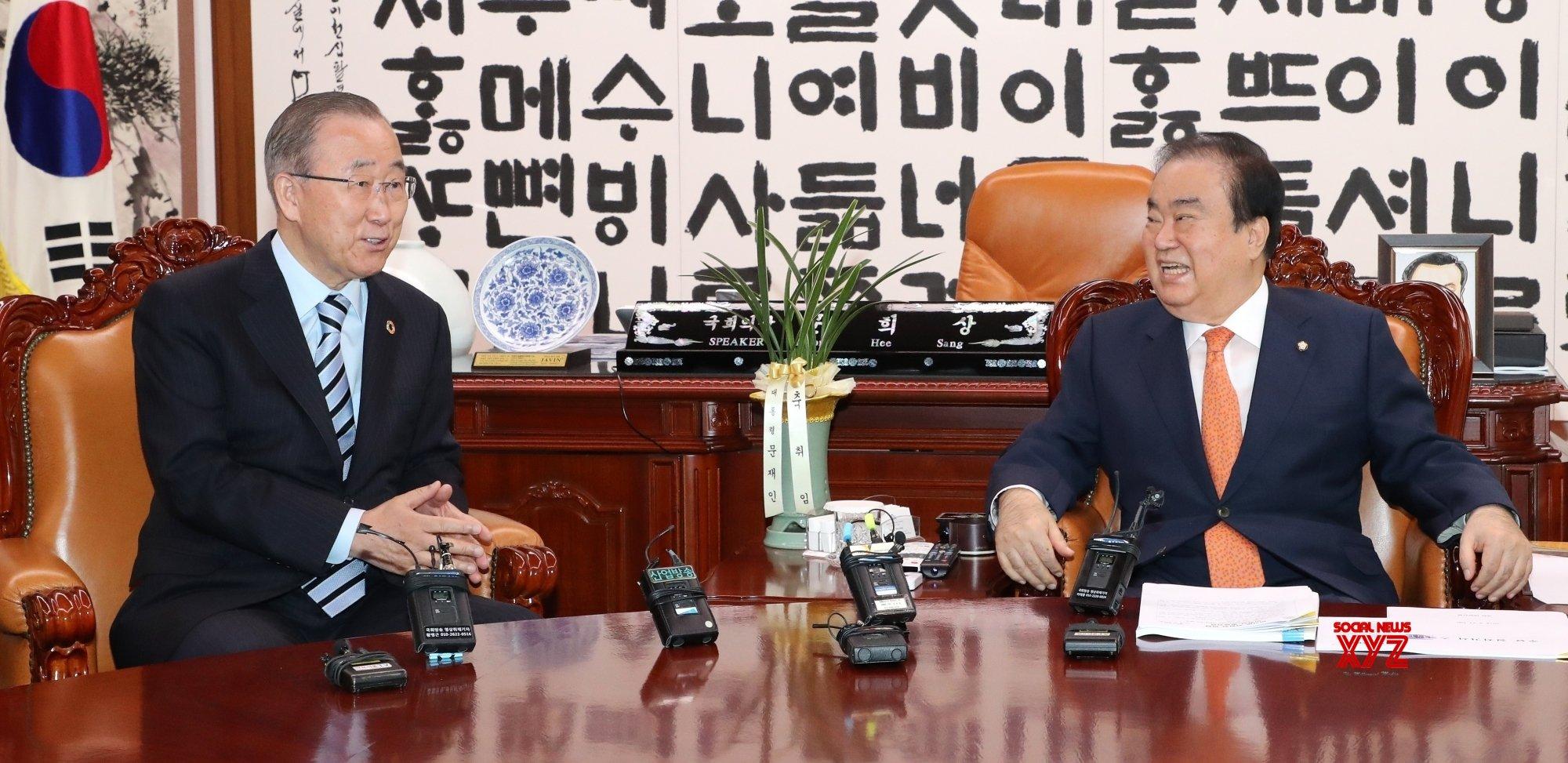 Seoul: Speaker meets ex - U.N. chief #Gallery