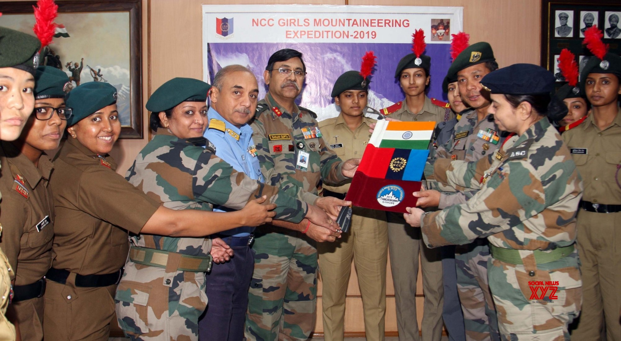 New Delhi: Flagging off ceremony of NCC Girls Mountaineering Expedition #Gallery