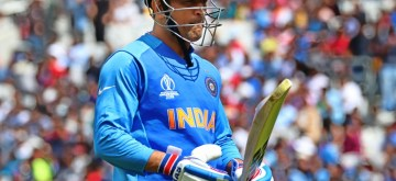 London: India's M. S. Dhoni during the first warm-up match between India and New Zealand at the Kennington Oval,  London on May 25, 2019. (Photo: IANS)