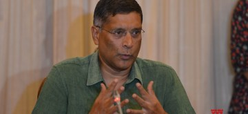 New Delhi: Indian economist and former Chief Economic Adviser Arvind Subramanian addresses a press conference, in New Delhi on June 20, 2018. (Photo: IANS)