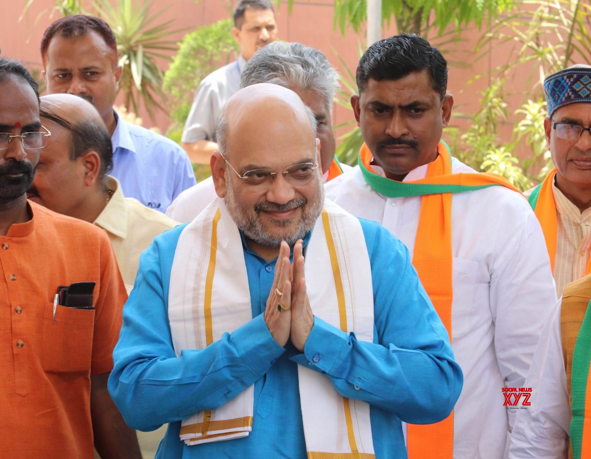 New Delhi: Shah arrives to chair key meeting of BJP office - bearers #Gallery
