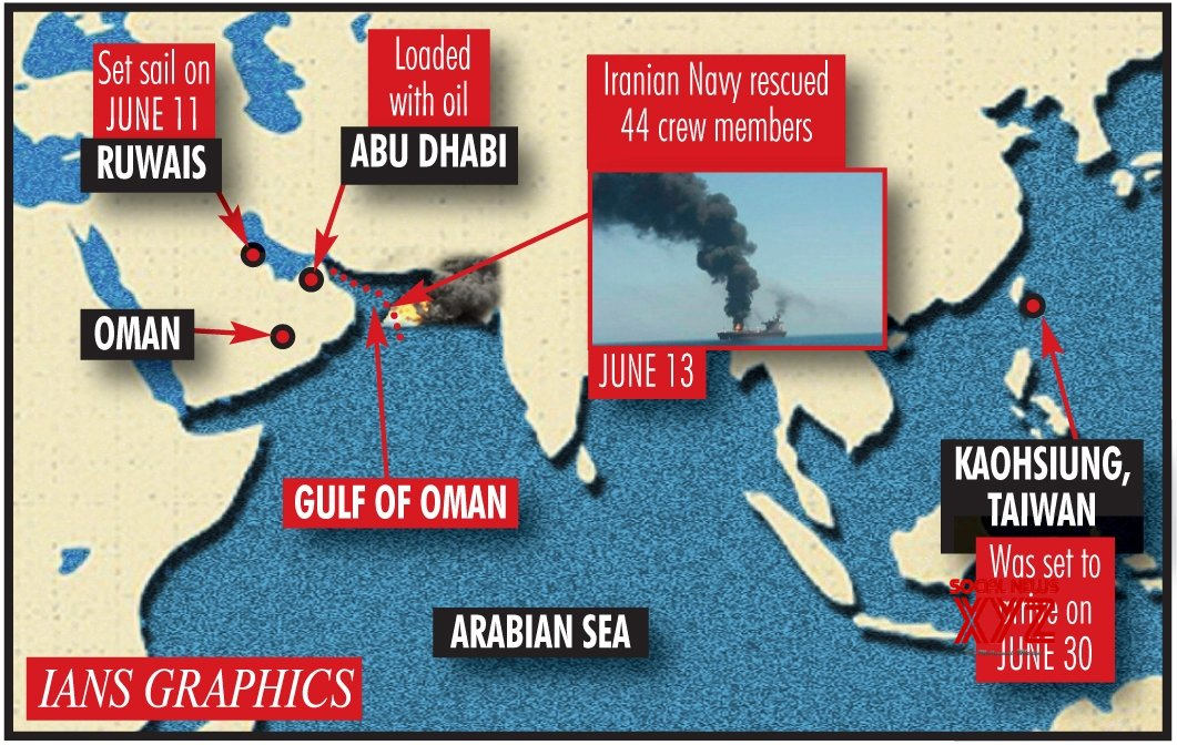 Infographics: 2 oil tankers hit in Gulf of Oman, all crew evacuated #Gallery