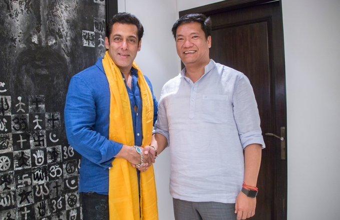 Mumbai: Salman Khan meets Arunachal CM #Gallery