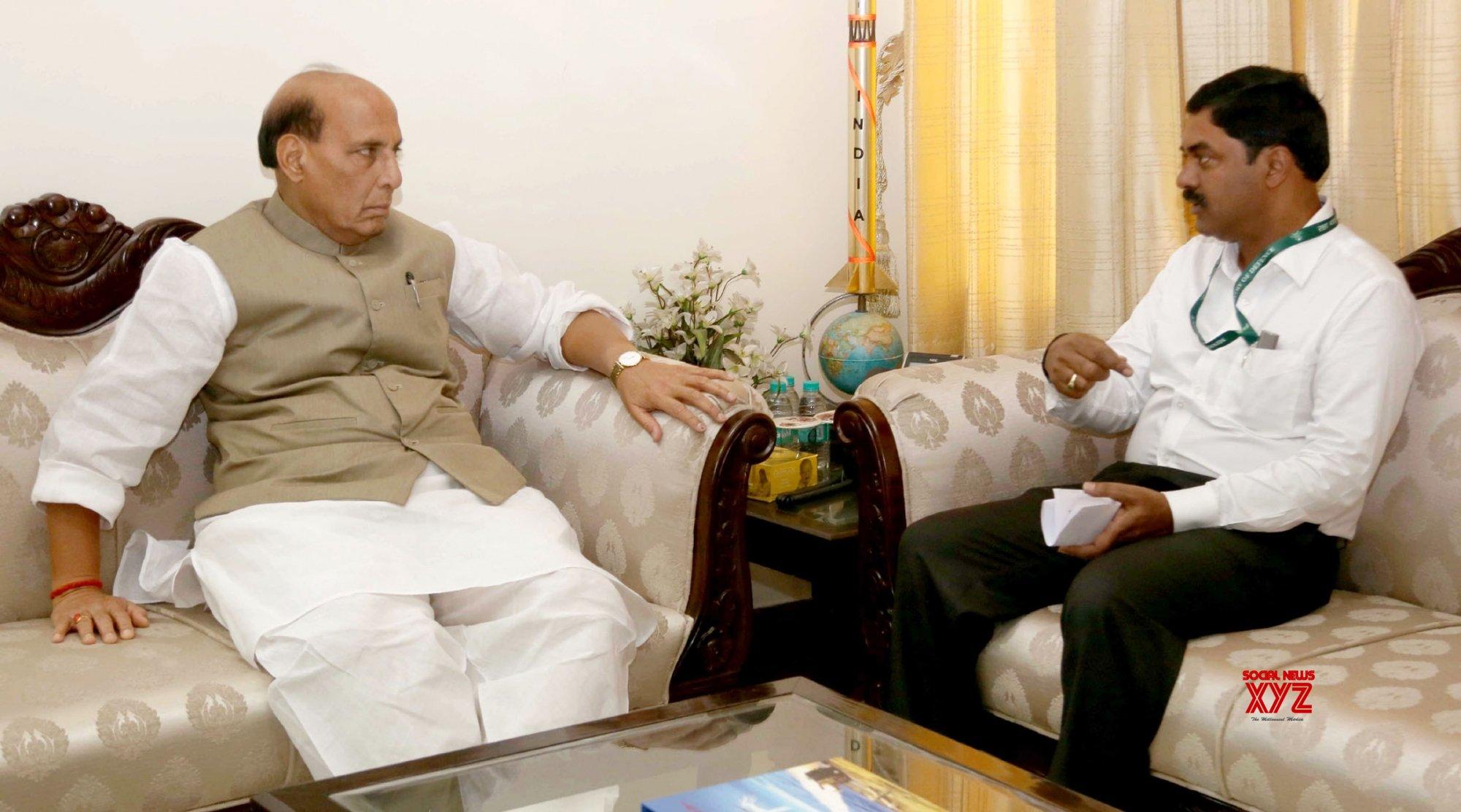 New Delhi: Rajnath Singh visits DRDO Bhawan #Gallery