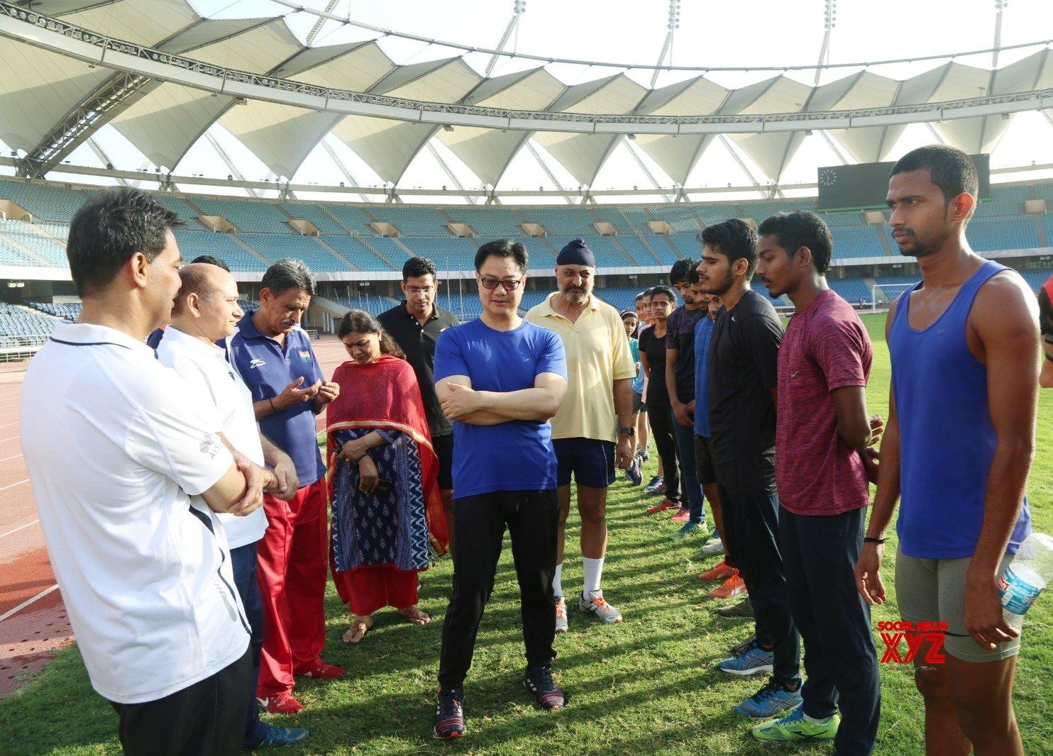 New Delhi: Kiren Rijiju meets athletes #Gallery