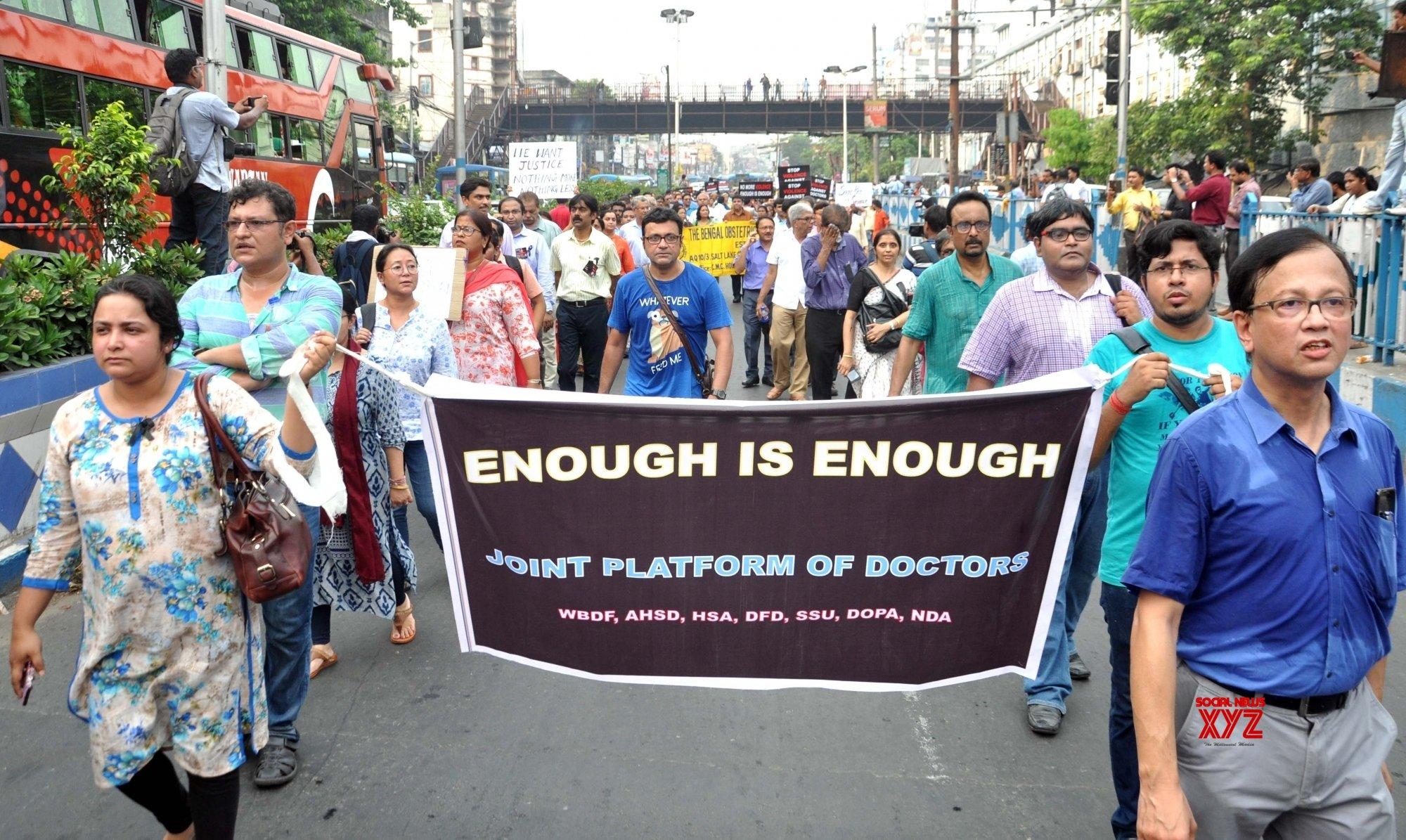 Kolkata: Doctors' protest #Gallery