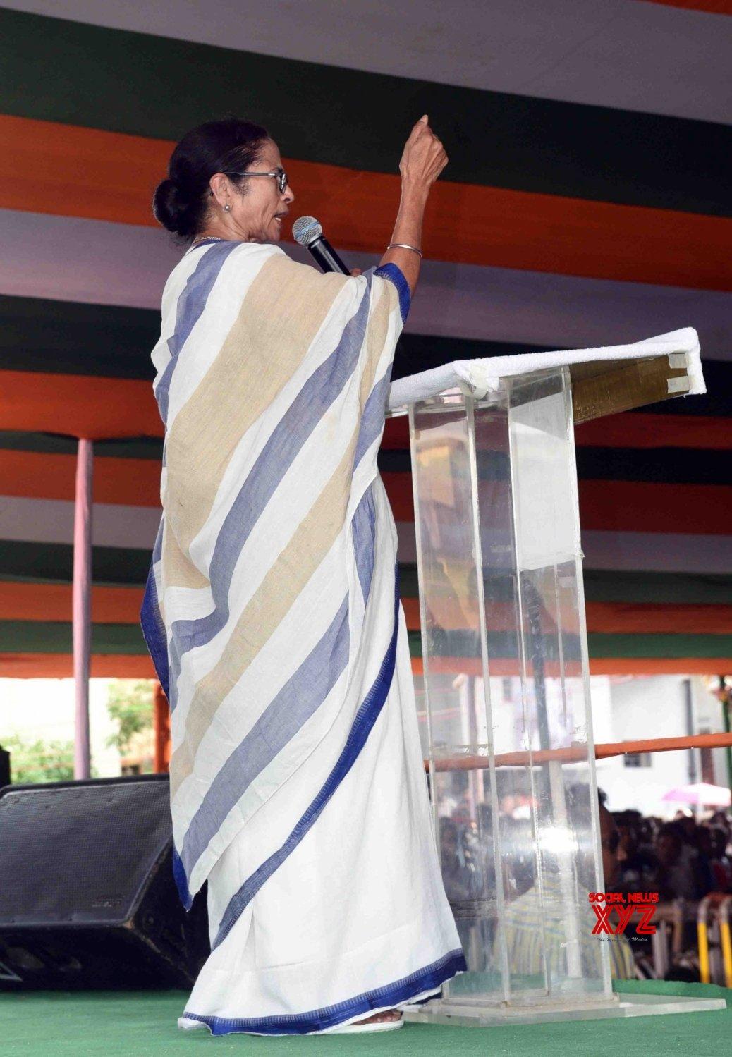 Kanchrapara: Mamata Banerjee during a Trinamool Congress workers' meeting (Batch - 2) #Gallery