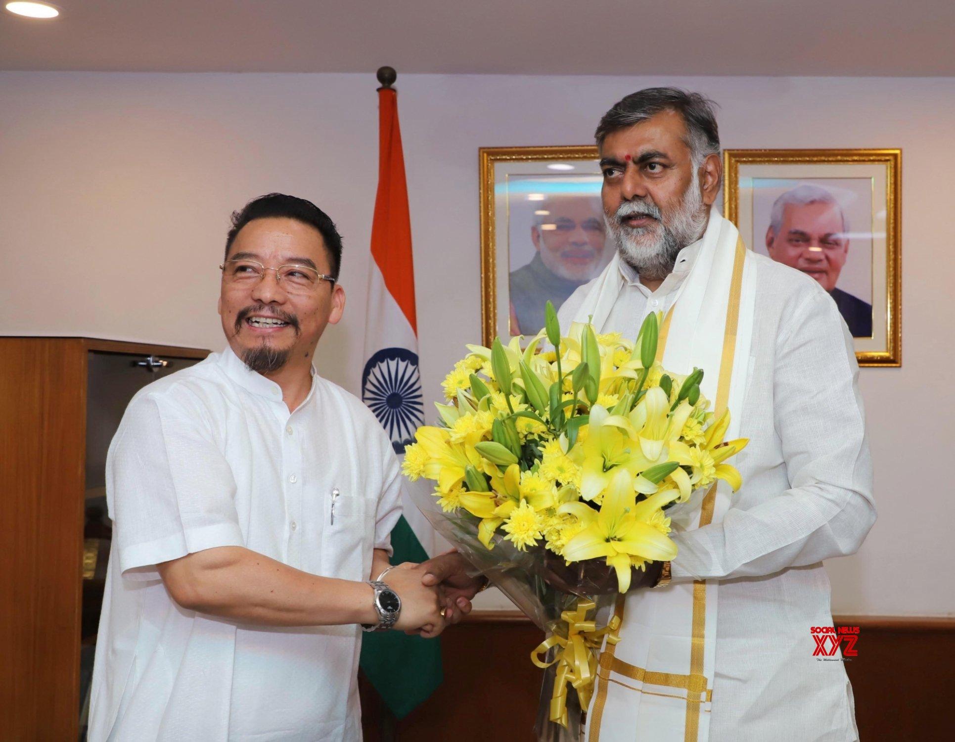 New Delhi: Nagaland Minister meets Prahalad Singh Patel #Gallery