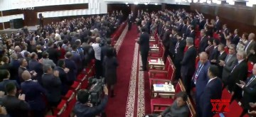 Bishkek: Pakistan Prime Minister Imran Khan has broken diplomatic protocol again this time at the opening ceremony of the SCO Summit he is seen sitting while everyone else stood to welcome the head of states entering the hall in Bishkek, Kyrgyzstan. (Screngrab: Twitter/@PTIofficial)