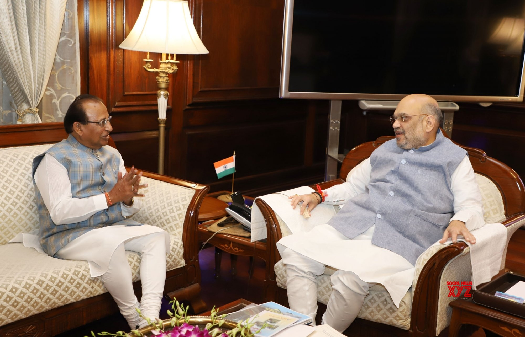 New Delhi: Sikkim Governor meets Amit Shah #Gallery